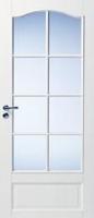 Массивные двери с арочной филенкой под 8 стекол