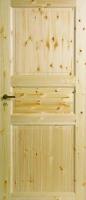 Трехфиленчатые двери из массива сосны