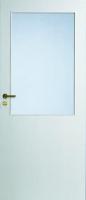 Дверь белая гладкая под стекло