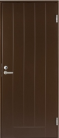 Входная дверь Jeld-Wen Basic 010 с фрезерованной внешней стороной и гладкой внутренней коричневая