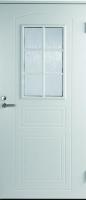 Входная дверь Jeld-Wen Basic 020 со стеклом Costwold с фрезерованной внешней стороной и гладкой внутренней