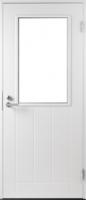 Входная террасная дверь Jeld-Wen Basic 030 с прозрачным стеклом с фрезерованной внешней стороной и гладкой внутренней