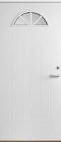 Входная дверь Jeld-Wen Basic 050 со стеклом Costwold с фрезерованной внешней стороной и гладкой внутренней белая